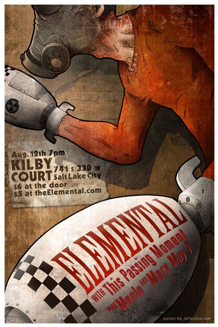 Elemental August concert poster