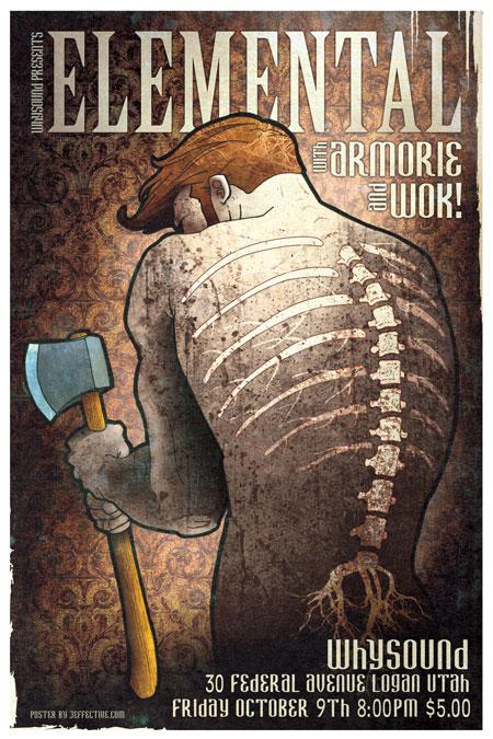 Elemental October concert poster