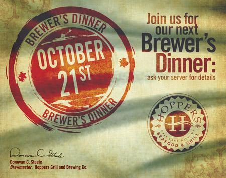 Brew Master Dinner sign
