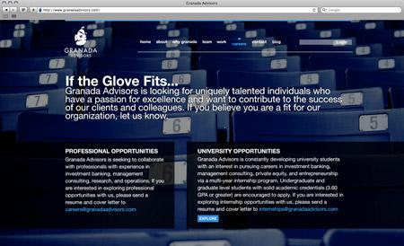 GranadaAdvisors careers page