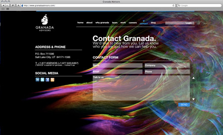 GranadaAdvisors contact page