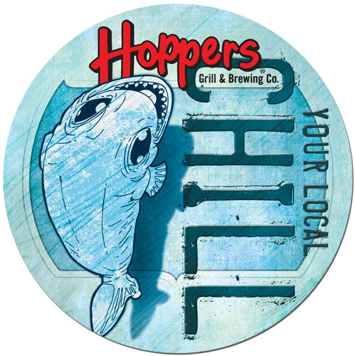 Hoppers Coaster Illustration