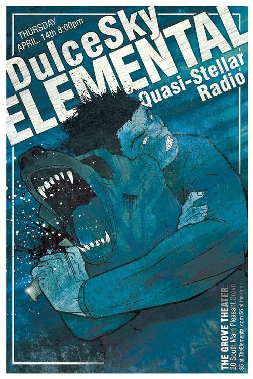DulceSky Elemental Concert Poster