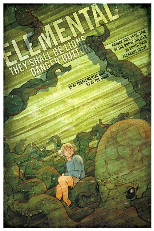 Roctopus poster illustration
