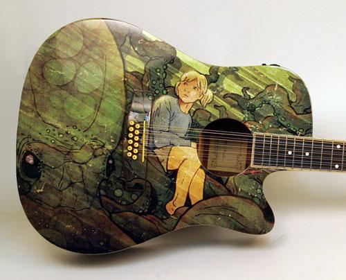 Roctopus Guitar illustration - close