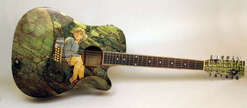 Roctopus Guitar Illustration - full