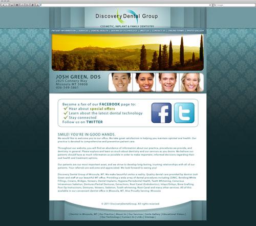 Dental website after