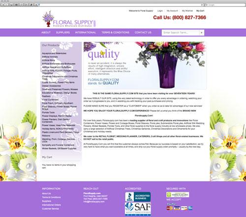 Floral website before