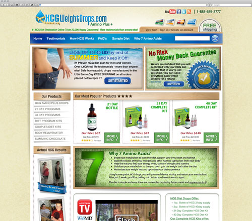HCG website after