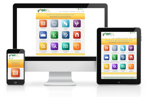 DFPL Dashboard responsive website